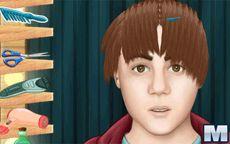 Vestir peinar y maquillar a Justin Bieber - Real Haircuts