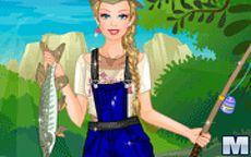 Juego de vestir a Barbie para ir de pesca