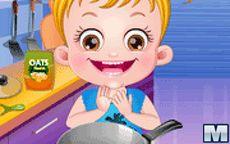 Baby Hazel cuida a su hermanito y le cocina la comida