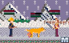 Snow Wolf and Dog