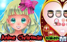 vestidos y maquillaje anime para navidad