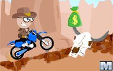 Cowboy Motocross Biker