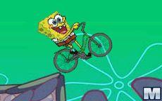 El glotón de Bob esponja y su bicicleta