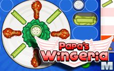 Papa's Wingeria - cocina en el restaurante