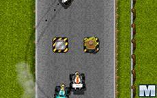 Pingüinos jugando al estilo Mario Kart