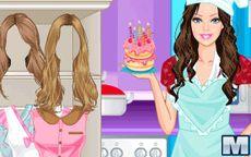 Juego de cocina de Barbie Chef - spaguetti