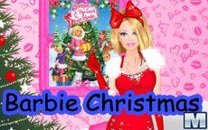 Juego de vestir a barbie moda navideña
