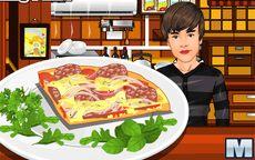 Justin bieber cocina una pizza