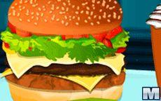 Juego para preparar una hamburguesa doble