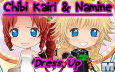 Personaliza a Chibi Kairi & Namine en este juego de vestir