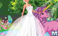 Viste a la princesa y a su unicornio pony