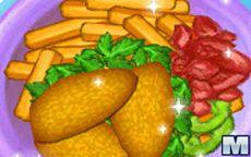 Juega a cocinar Nuggets de pollo casero con patatas