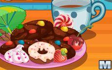 Juego de cocinar galletas de chocolate para postre