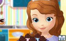Juego de cocina de Sofia - magdalenas de chocolate