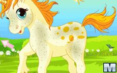 Juego de barbie de cuidar a su pony unicornio