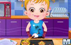 Juego de la bebé Baby Hazel - cocina su primer plato