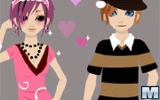 Viste a la joven pareja