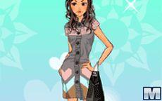 Juego de moda: bolsos y botas de cuero