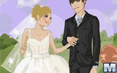 Novios casandose
